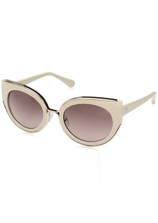 Diane Von Furstenberg Women's DVF626S Norah Round Sunglasses  51mm