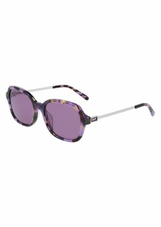 Diane Von Furstenberg Women's DVF685S Rectangular Sunglasses PURPLE TORTOISE