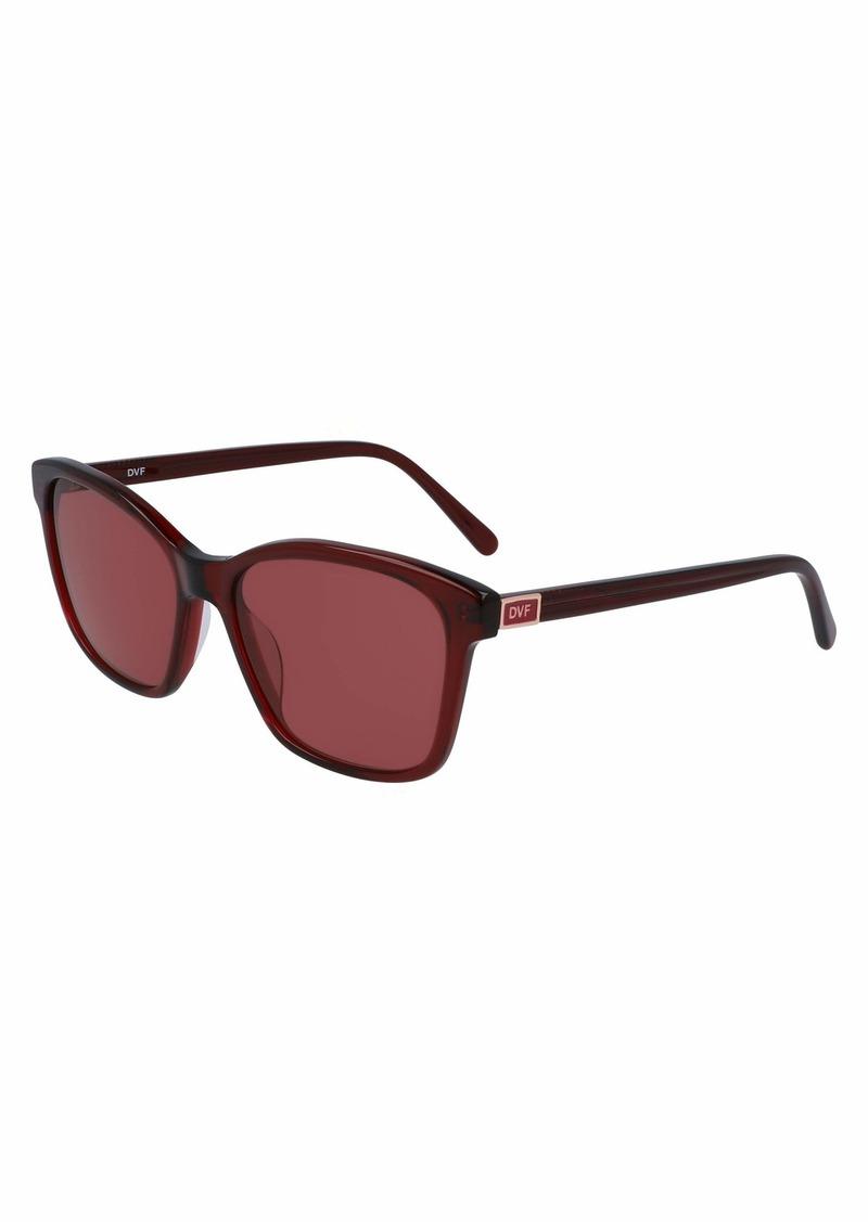 Diane Von Furstenberg Women's DVF686S Square Sunglasses RUBY