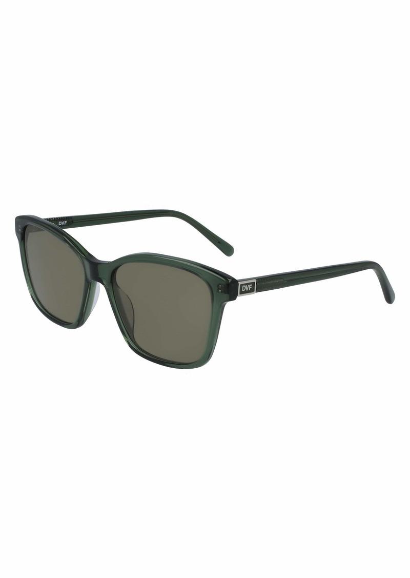 Diane Von Furstenberg Women's DVF686S Square Sunglasses EMERALD