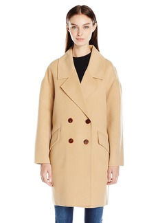 Diane von Furstenberg Women's Roma Drop Shoulder Double Faced Coat  L