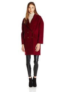 Diane von Furstenberg Women's Roma Drop Shoulder Double Faced Coat  M