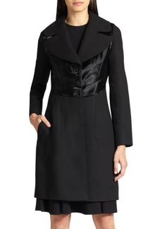 Diane von Furstenberg Wool & Calf Hair Coat