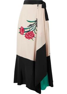Diane Von Furstenberg Printed silk wrap midi skirt