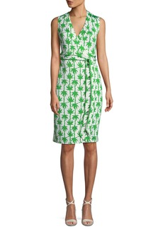 Diane von Furstenberg Yahzi Printed Sleeveless Wrap Dress