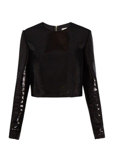 Diane Von Furstenberg Zip-back sequinned top