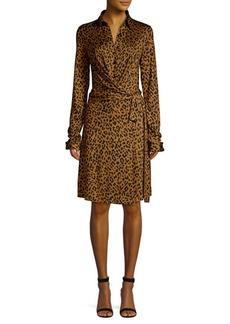 Diane Von Furstenberg Didi Leopard Print Wrap Dress