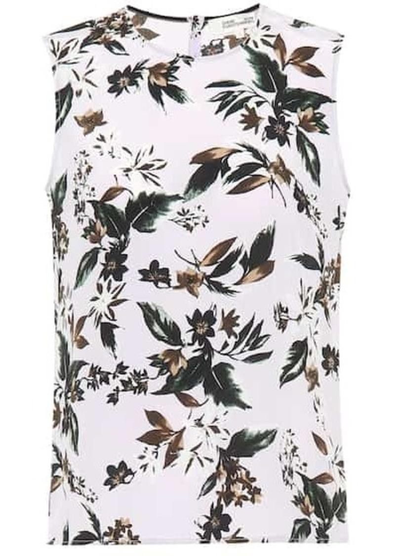 Diane Von Furstenberg Diem floral silk top