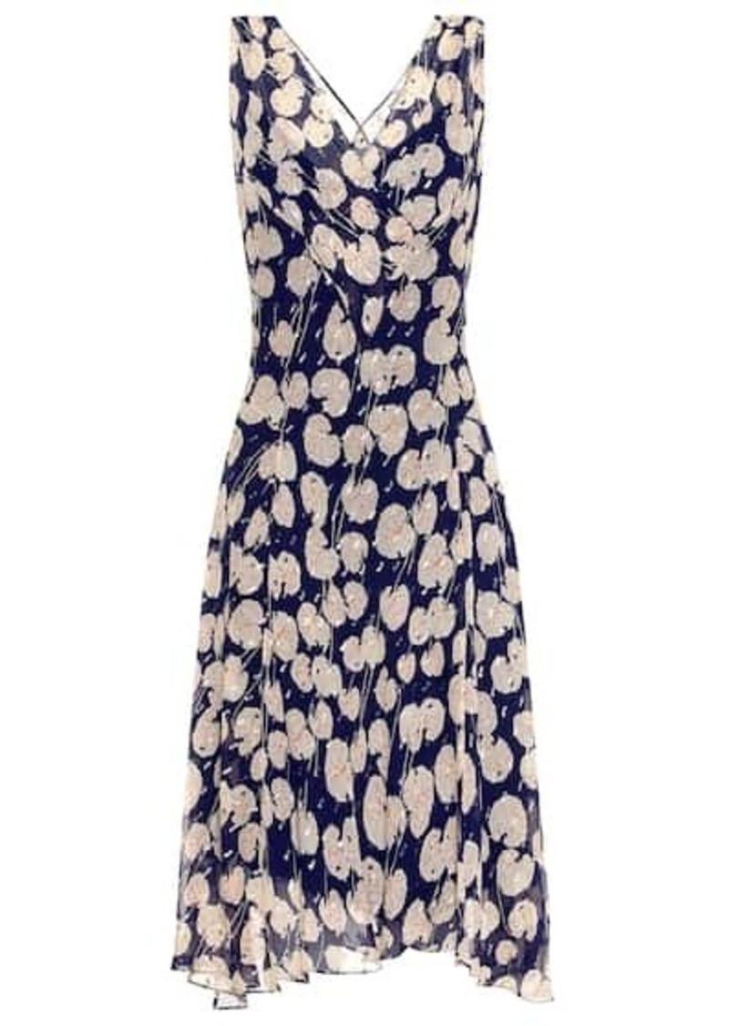 Diane Von Furstenberg Dita printed silk-blend dress