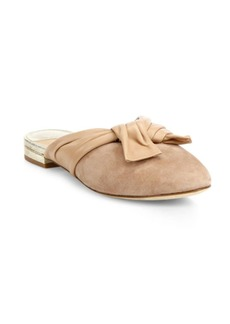 Doha Suede & Leather Flat Mules