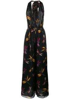 Diane Von Furstenberg dragonfly print jumpsuit