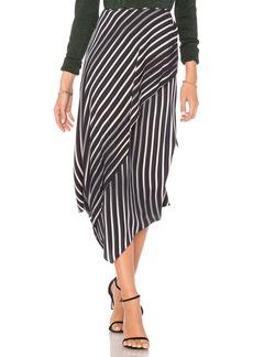 Diane Von Furstenberg Draped Asymmetrical Midi Skirt