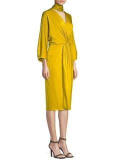 Diane Von Furstenberg Draped Choker Dress
