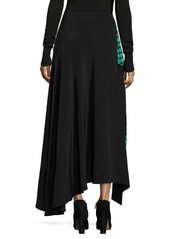 Diane Von Furstenberg Draped Silk Skirt