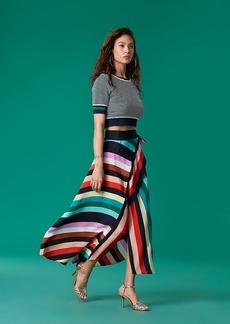 Diane Von Furstenberg Draped Skirt Crepe de Chine