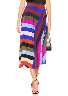 Draped Wrap Maxi Skirt
