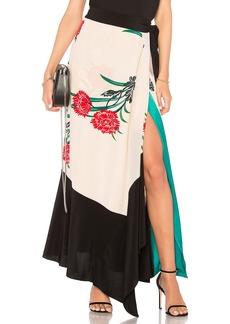 Diane Von Furstenberg Draped Wrap Midi Skirt