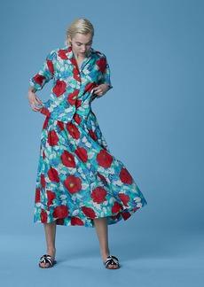 Diane Von Furstenberg Drawstring Midi Skirt