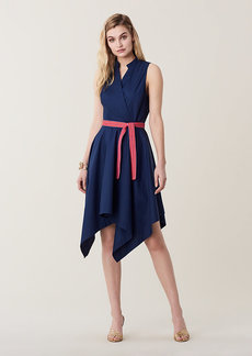 Diane Von Furstenberg Marlene Asymmetrical Cotton Belted Dress
