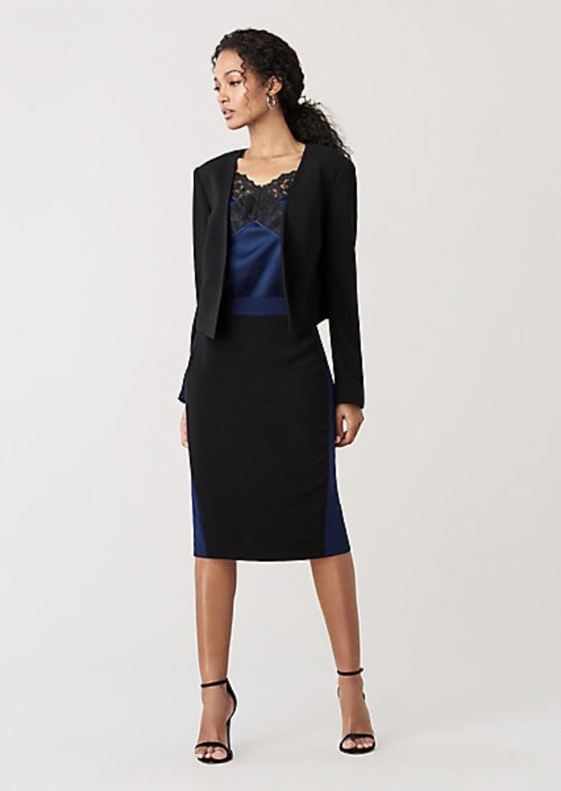 Diane Von Furstenberg Dream Cropped Crepe Jacket