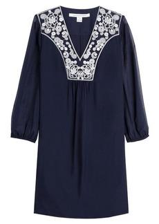 Diane Von Furstenberg Dress with Embroidered Neckline