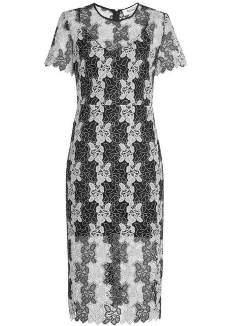 Diane Von Furstenberg Dress with Lace Overlay