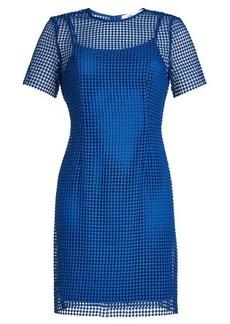 Diane Von Furstenberg Dress with Mesh Overlay