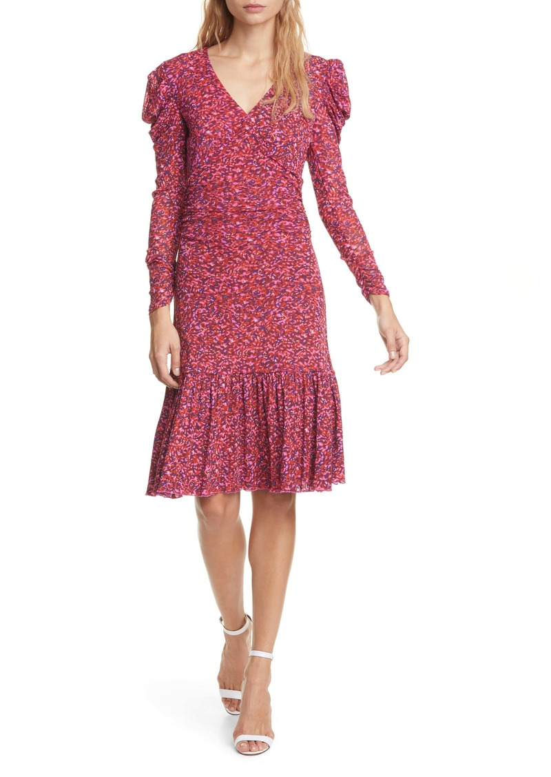 Diane Von Furstenberg DVF Alyssa Puff Long Sleeve Body-Con Dress