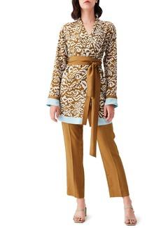 Diane Von Furstenberg DVF April Belted Silk Tunic