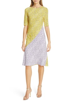Diane Von Furstenberg DVF Arlow Pattern Mix Dress