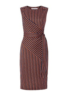 DVF Ashlie Sleeveless Faux Wrap Dress