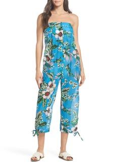 Diane Von Furstenberg DVF Beach Strapless Jumpsuit Cover-Up