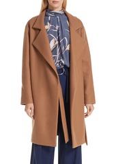 Diane Von Furstenberg DVF Belted Wool Blend Wrap Coat
