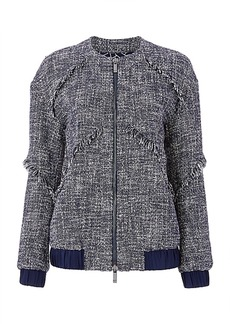 DVF Braelyn Tweed Bomber Jacket