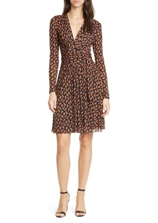 Diane Von Furstenberg DVF Brenda Long Sleeve Wrap Dress