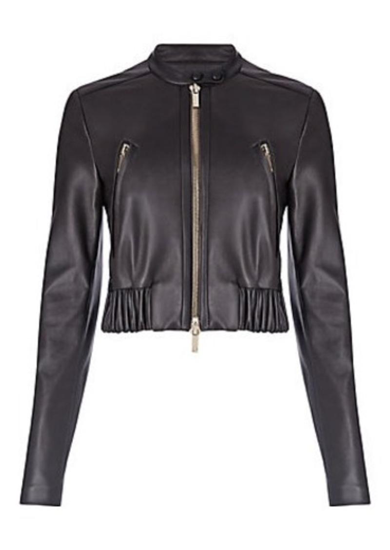 Diane Von Furstenberg DVF Buckley Leather Bomber Jacket