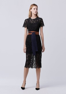 DVF Carly Lace Midi Dress