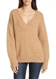 Diane Von Furstenberg DVF Carmella V-Neck Wool Blend Sweater