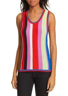 Diane Von Furstenberg DVF Carolina Stripe Knit Top