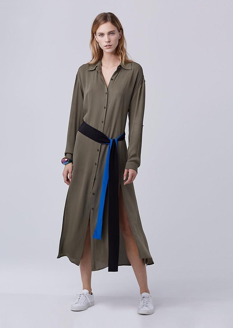 Diane Von Furstenberg DVF Clarise Midi Shirt Dress