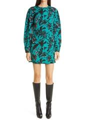 Diane Von Furstenberg DVF Collins Long Sleeve Minidress