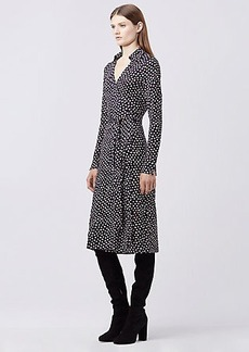 DVF CYBIL SILK JERSEY MIDI WRAP DRESS
