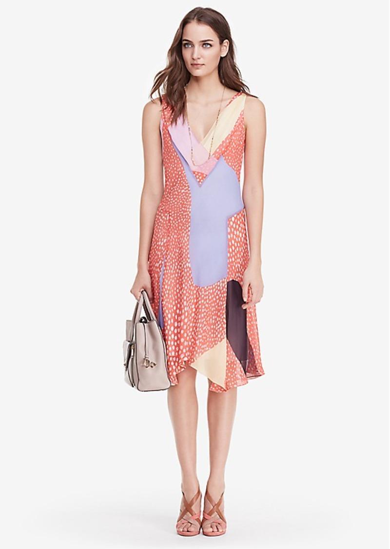 Diane Von Furstenberg DVF Dita Chiffon A-Line Dress