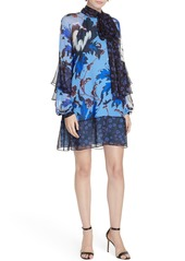 Diane Von Furstenberg DVF Effie Floral Print Silk Shift Dress