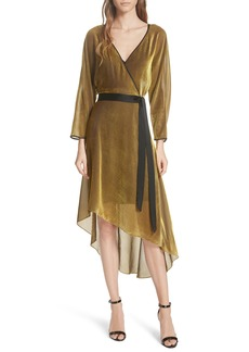 Diane Von Furstenberg DVF Eloise Asymmetrical Wrap Dress