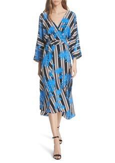 Diane Von Furstenberg DVF Eloise Silk Wrap Midi Dress