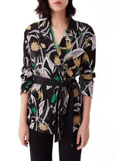 Diane Von Furstenberg DVF Esther Floral Jacket