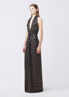 DVF EVELINA HALTER DRESS