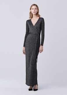 DVF Evelyn Maxi Knit Wrap Dress