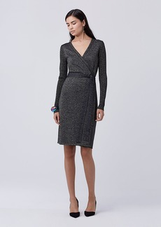 DVF Evelyn Metallic Knit Wrap Dress